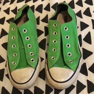 Green converse ( no laces )